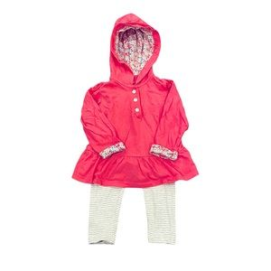 Carter's Hooded Top Pants Outfit Baby Girl 12 M